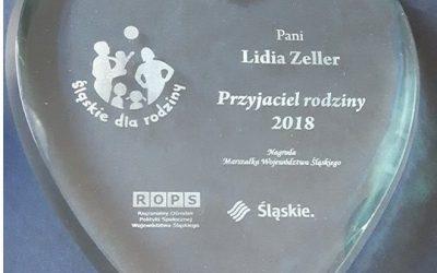 Pani Lidia Zeller wyróżniona